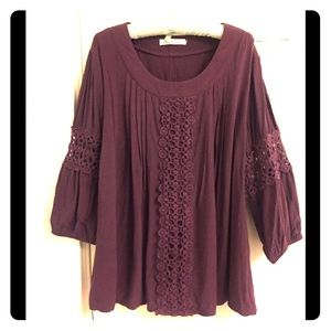 Wine colored top,